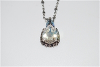 Mariana Tiara Drop Pendant with Swarovski Crystals from the Ice Collection in Rhodium Plating