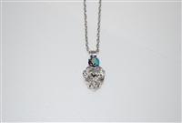 Mariana Swarovski Crystal Heart Pendant from the Ice Collection with .925 Silver Plating