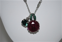 "Mariana ""Happy Days"" Pendant with Swarovski Crystal and 18"" chain and .925 Silver Plated"