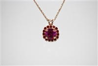 "Mariana Pendant from the Firefly Collection with Swarovski Crystal 15"" chain and Rose Gold Plated"