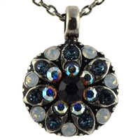 Mariana Guardian Angel Necklace Pendant from the Mood Indigo Collection with Swarovski Crystals and .925 Silver Plated