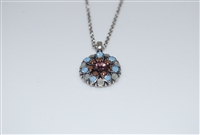 Mariana Guardian Angel Pendant Necklace from the Rhopsode Collection with Swarovski Crystals and .925 Silver Plating
