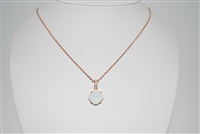 "Mariana ""Bijou"" 15"" White Opal Swarovski Crystal Pendant Necklace with 18"" chain and Rose Gold Plated"