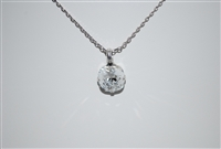 "Mariana ""Bijou"" 15"" Clear Swarovski Crystal Pendant Necklace with 18"" chain and .925 Silver Plated"