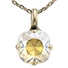 "Mariana ""Bijou"" 15"" Clear Moonlight Effect Swarovski Crystal Pendant Necklace with 18"" chain and .925 Silver Plated"
