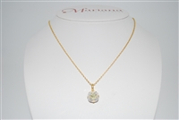 "Mariana ""Bijou"" 15"" Clear Moonlight Effect Swarovski Crystal Pendant Necklace with 18"" chain and Yellow Gold Plated"