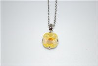 "Mariana ""Bijou"" 15"" Sunshine sun kissed Swarovski Crystal Pendant with 18"" chain and rhodium Plated"