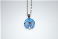 "Mariana ""Bijou"" 15"" Ocean sun kissed Swarovski Crystal Pendant with 18"" chain and rhodium Plated"