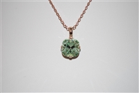 "Mariana ""Bijou"" 15"" Light Chrystolite Swarovski Crystal Pendant Necklace with 18"" chain and Rose Gold Plated"
