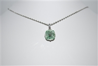 "Mariana ""Bijou"" 15"" Light Chrystolite Swarovski Crystal Pendant Necklace with 18"" chain and .925 Silver Plated"