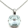 "Mariana ""Bijou"" 15"" Light Azura Swarovski Crystal Pendant Necklace with 18"" chain and .925 Silver Plated"