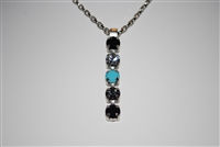 "Mariana ""Fountain"" strand necklace from Zanzibar Collection made of 5 Swarovski Crystals and .925 Silver Plated"