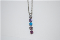 "Mariana ""Fountain"" strand necklace from St Lucia Collection made of 5 Swarovski Crystals and .925 Silver Plated"