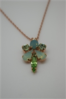 Mariana Athena Pendant Necklace with Swarovski Crystals and Rose Gold Plated