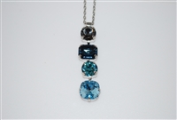 Mariana mixed shaped stone pendant from the Frost Collection with Swarovski Crystals with Rhodium Plating