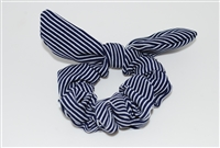 Pin Stripe Rabbit Ear Scrunchies