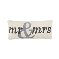MR. & MRS. WOVEN HOOKED PILLOW