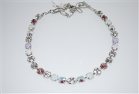 Mariana Snowflake Necklace with Rhodium Plating