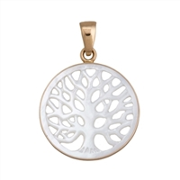 Charles Albert Alchemia Tree of Life Mother of Pearl Pendant
