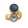 Charles Albert Alchemia Blue Topaz and Kyanite Adjustable Ring