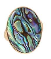 Charles Albert Alchemia Natural Abalone Adjustable Ring