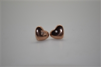 Qudo Stainless Steel Heart Earring Swarovski Crystals Rose Gold