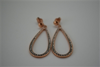 Qudo Stainless Steel Post Earrings with Dangling Teardrop Cutouts