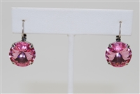 Rachel Marie - Bev Pewter Earrings in Light Rose Swarovski Crystals