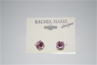 Rachel Marie - Jen Pewter Earrings in Rose Swarovski Crystals