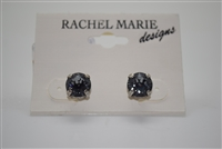 Rachel Marie - Jen Post Earrings in Silver Night Swarovski Crystals