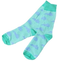 Green/Blue Kentucky Socks with Stripes