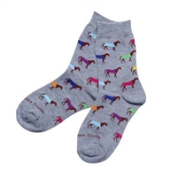 Kids Multi Color Horse Socks