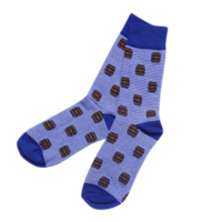 Blue Bourbon Stripe Socks