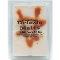 White Peach and Clove Swan Creek 5.25 oz. Break Apart Drizzle Melts