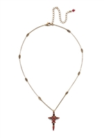 Sorrelli - Delicate Sliding Cross Pendant Necklace