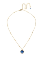 Sorrelli Cushion Cut Solitaire Necklace