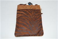 Genuine Leather Up-cycled Animal Print Crossbody Handbag