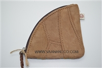 Vaan and Co Change Purse Leather