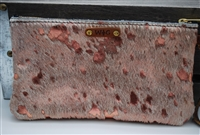 Rose Gold Exotic Cowhide Small Wristlet