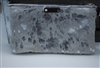 Silver Exotic Cowhide Small Wristlet
