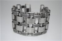 Zenzii Antiqued Silver Wide Linked Bracelet - Final Sale