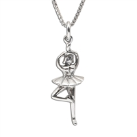 Sterling Silver Children's Ballerina Necklace