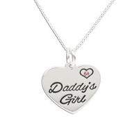 Sterling Silver Children's Daddy's Girl Pendant
