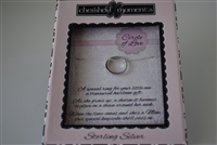 Sterling Silver Girl Circle of Love Chain/Baby Ring