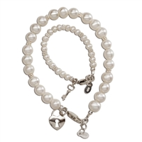 Mom and Me Bracelet Set - Key to Heart