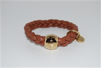 Qudo Leather Bracelet with Magnetic Closure