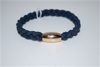 Qudo Small Braided Leather Bracelet with Magnetic Closure