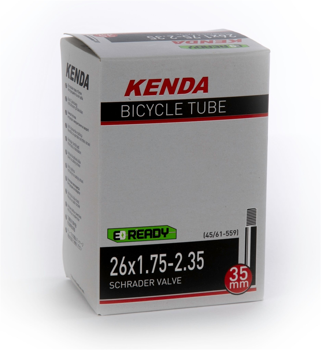 Kenda Bicycle Inner Tube 12-1//2 x 1.75//2-1//4 Bent Schrader Valve with Tire Lever