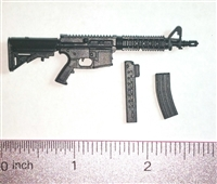 "M4-CQB Assault Rifle w/ Mags BLACK Version BASIC - ""Modular"" 1:12 Scale Weapon for 6 Inch Action Figures"