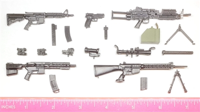 Marauder 1:12th Scale Series #1 : Complete Set (Weapons & Weapon Accessories) - 1:12 Scale Weapons for 6 Inch Action Figures